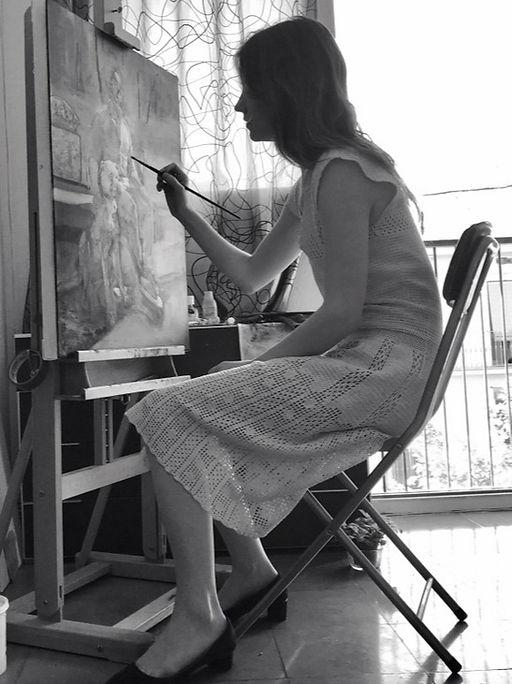 Carolin Prinn, FIgurative Painter, Painting, Contemporary realism, contemporary figurative artist, Fantasy Illustration