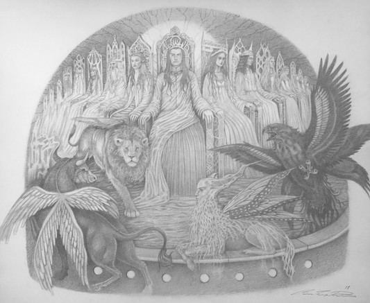 The Apocalypse graphite on paper  Published and comissioned by The Sankt Marien Kirchengemeide, Germany
