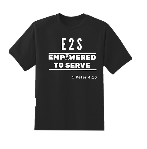 Empowered 2 Serve T-Shirt with Double White Bar