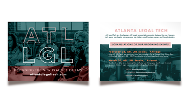 Graphic Design - Atlanta Legal Tech Flyer