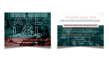 Graphic Design - Atlanta Legal Tech Flyer