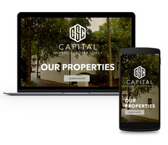 Website Mock Up - Brand Identity - GSC Captial