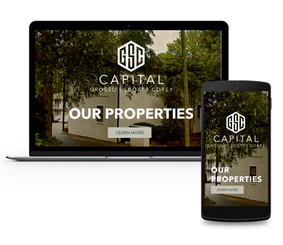 Website Mock Up - Brand Identity - GSC Captial