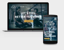 Brand Identity - Website Mockup - Katfit