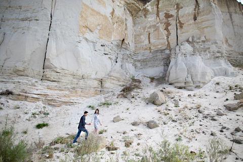 Paar im Steinbruch