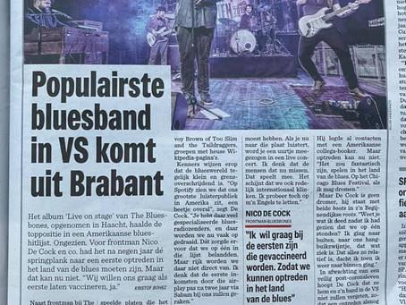 """Article in """"Het Nieuwsblad"""" national Newsletter from Belgium."""
