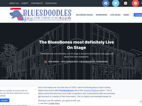 Review Live on Stage Bluesdoodles UK