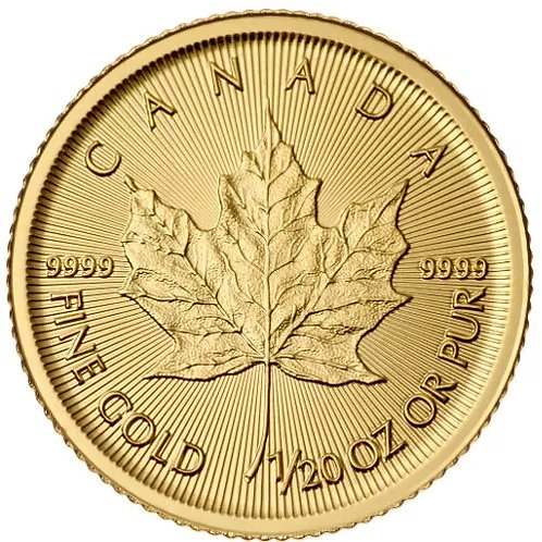 Canadian Gold Maple Leaf 1/20