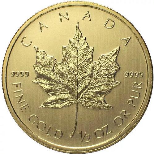Canadian Gold Maple Leaf 1/2