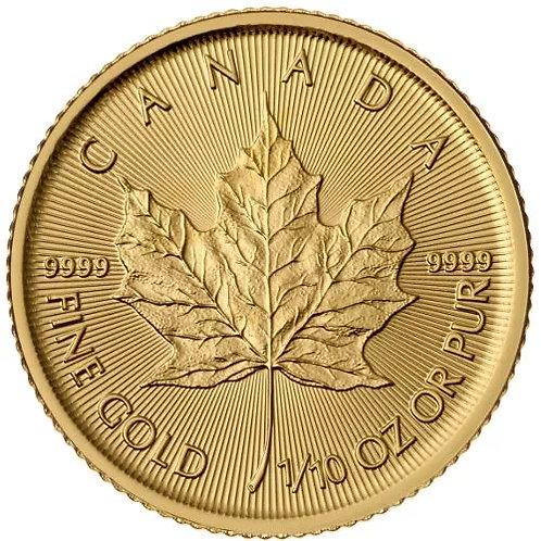 Canadian Gold Maple Leaf 1/10