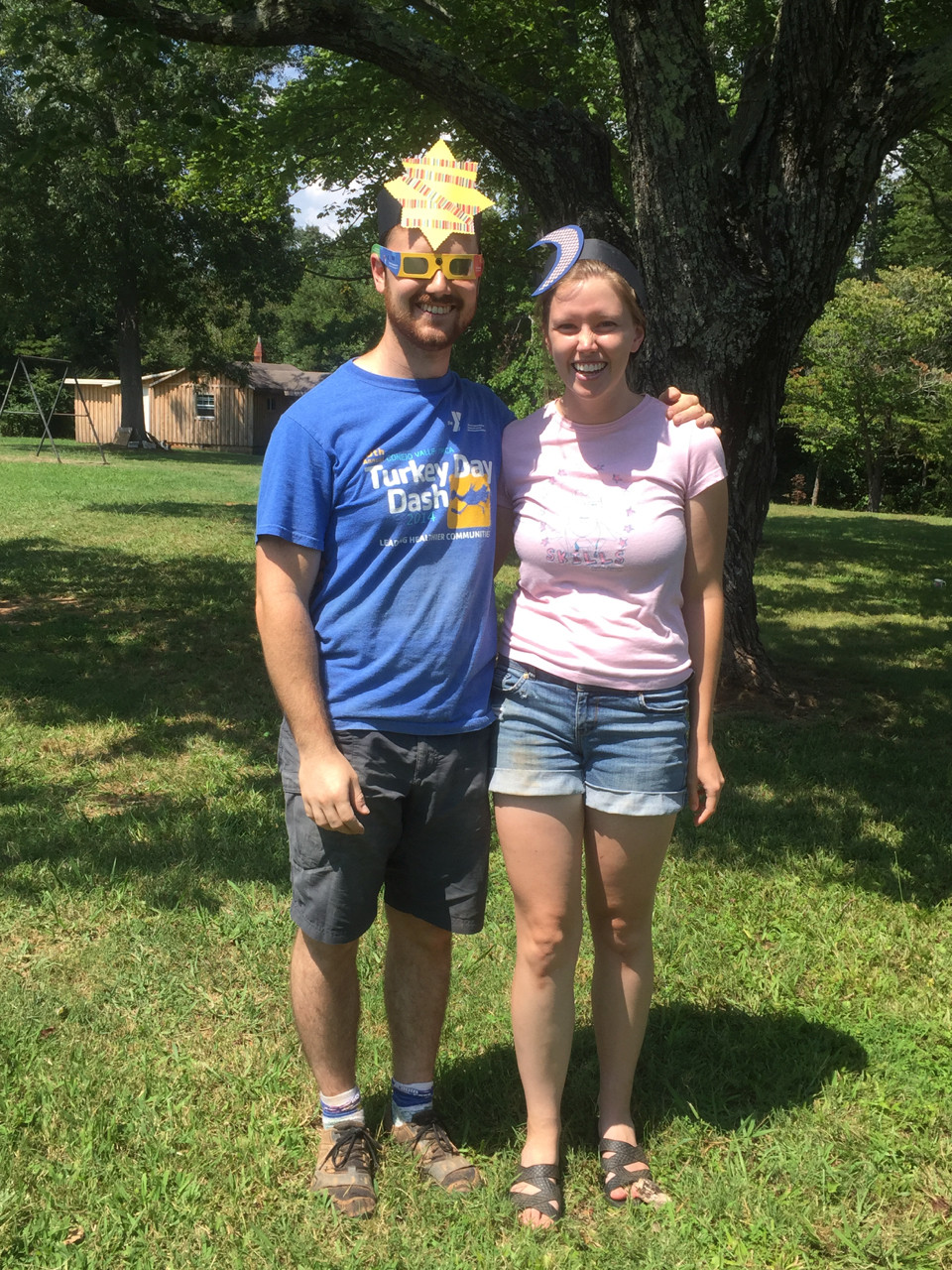 Alan and Annie on Solar Eclipse Day!