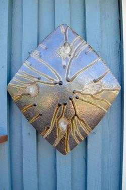 Salt and Ash Glaze Wall Sculpture