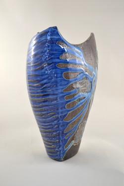 Blue Side Fired Vase