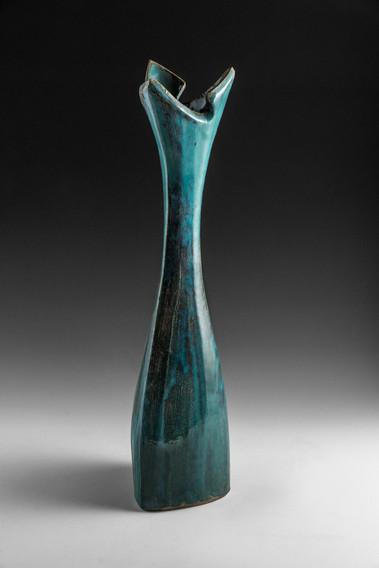 Copper Green Tall Vase