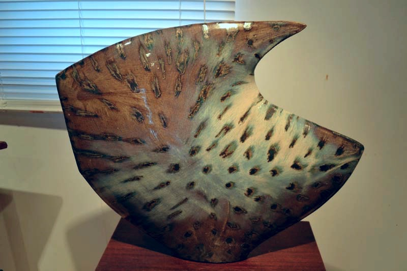 Side Fired Sculpture on Table