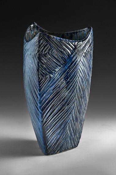 Blue Umbrella Vase