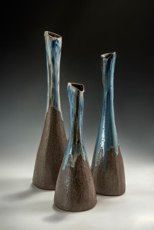 Blue Vase Trio