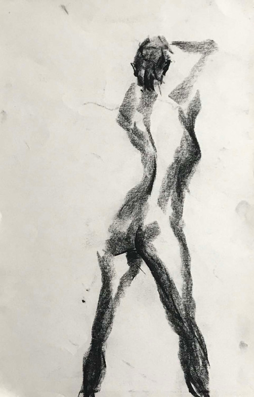 Elnaz-Haghghi_Drawing_Nudes_30x40_Charcoal on paper_2018-3