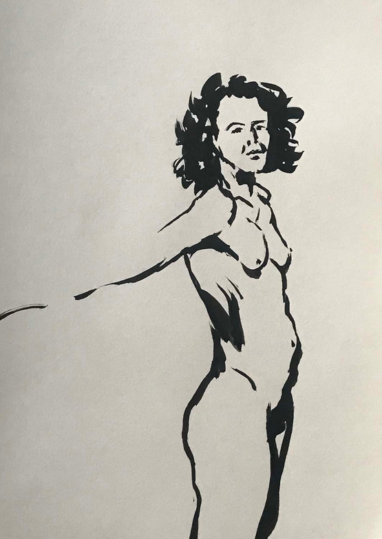 Elnaz-Haghghi_Drawing_Nudes_30x40_Ink on paper_2018-6