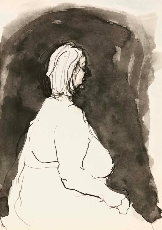 Elnaz-Haghghi_Drawing_Nudes_30x40_Ink on paper_2018-13