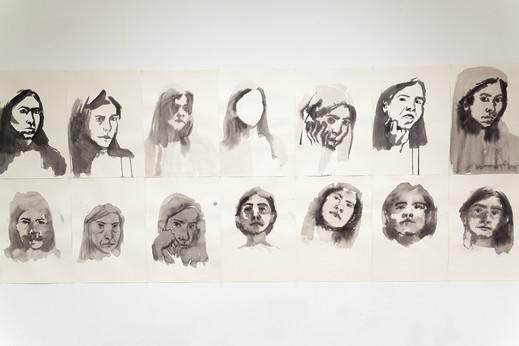 Elnaz-Haghghi_Self-Portrait_Ink on paper_30x40–2018-2
