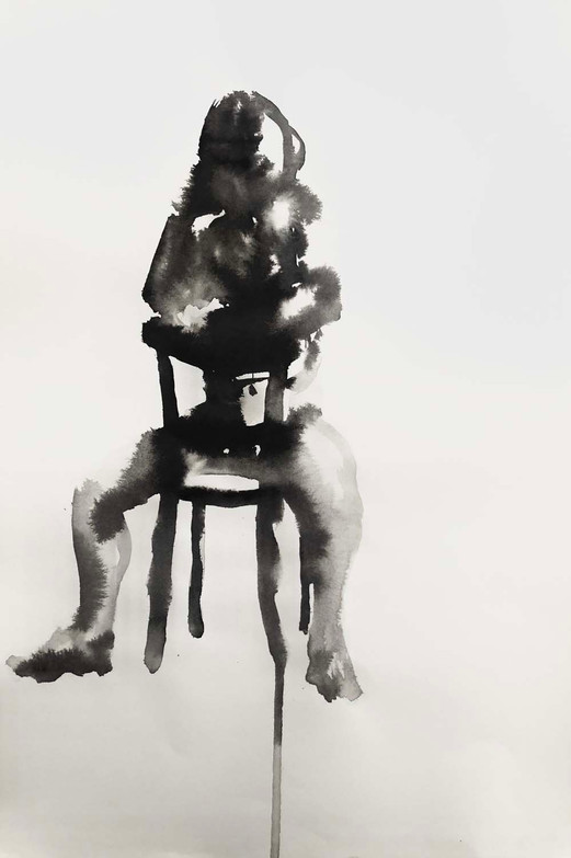 Elnaz-Haghghi_Drawing_Nudes_30x40_Ink on paper_2018-14