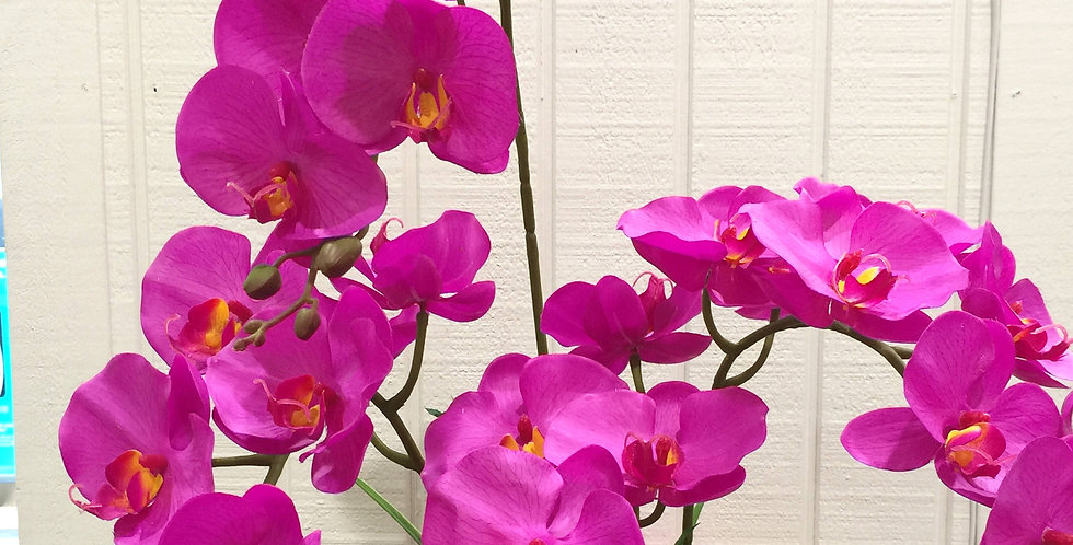 artificial orchid in pot - four stem