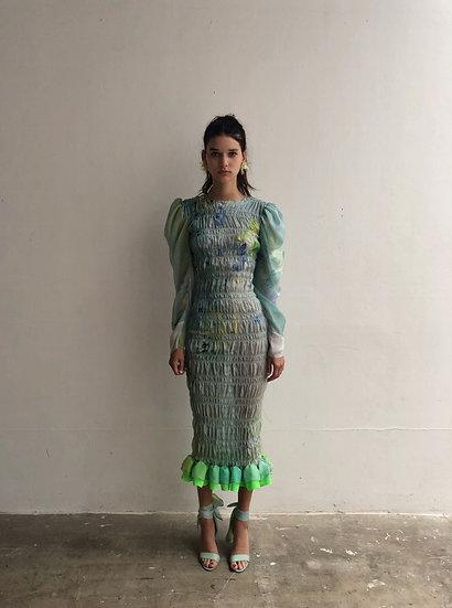 WATERCOLOUR SMOCK DRESS