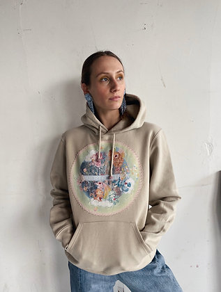 CARE BEAR CIRCLE HOODIE BEIGE