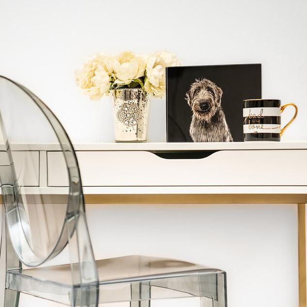 Dallas dog photographer home office