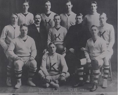 University of Kansas Basketball Team ~ 1908