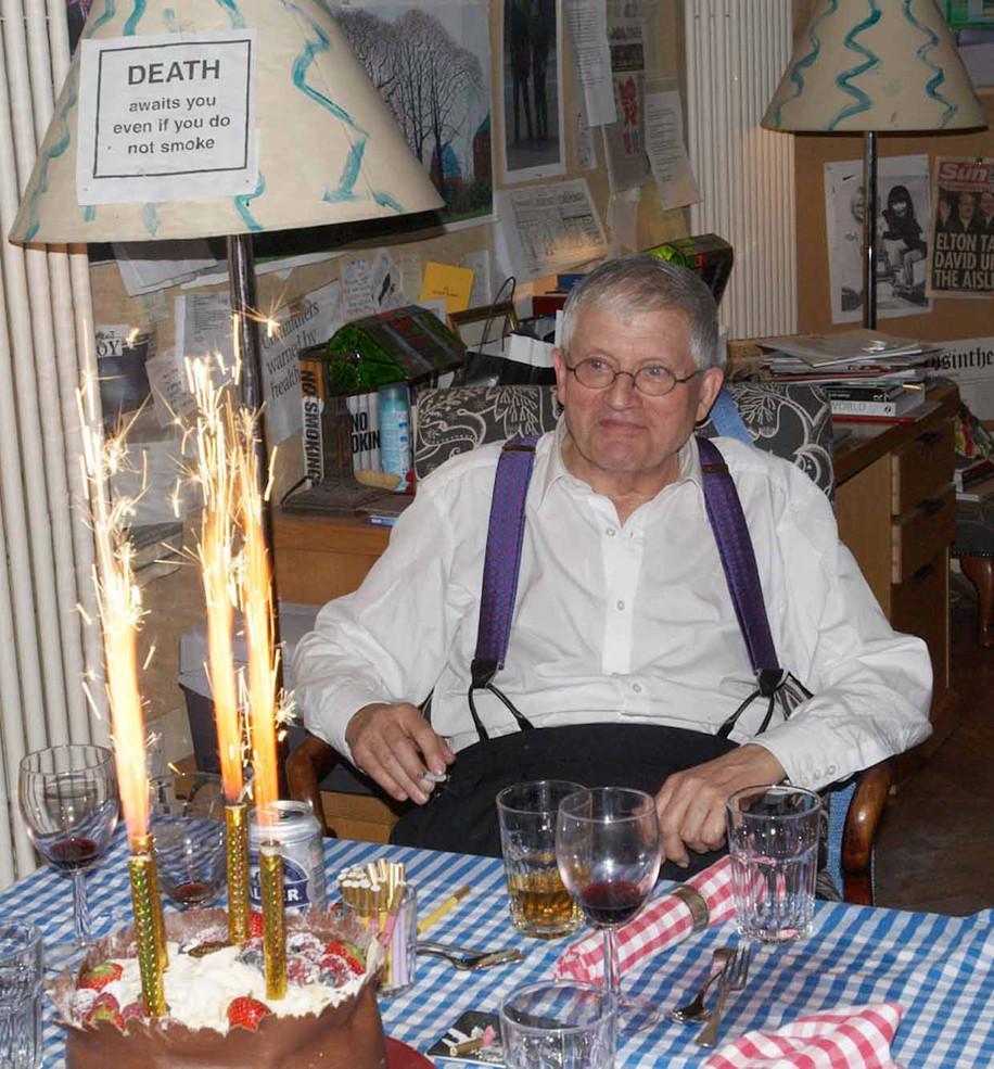 David Hockney At His 70th Birthday Party
