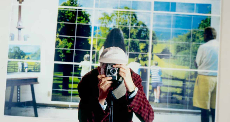 David Hockney at Cologne Photography Exhibition, 1997