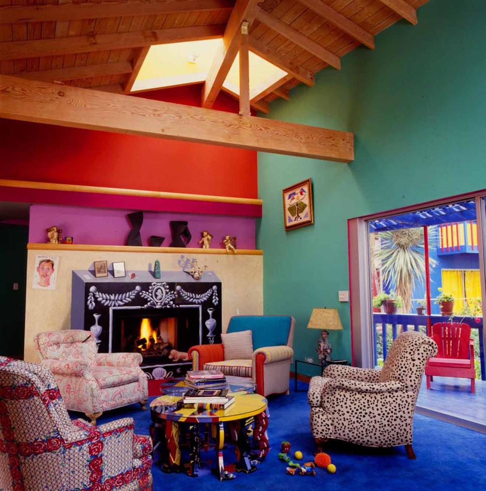 David Hockney Living Room in Los Angeles, 1990