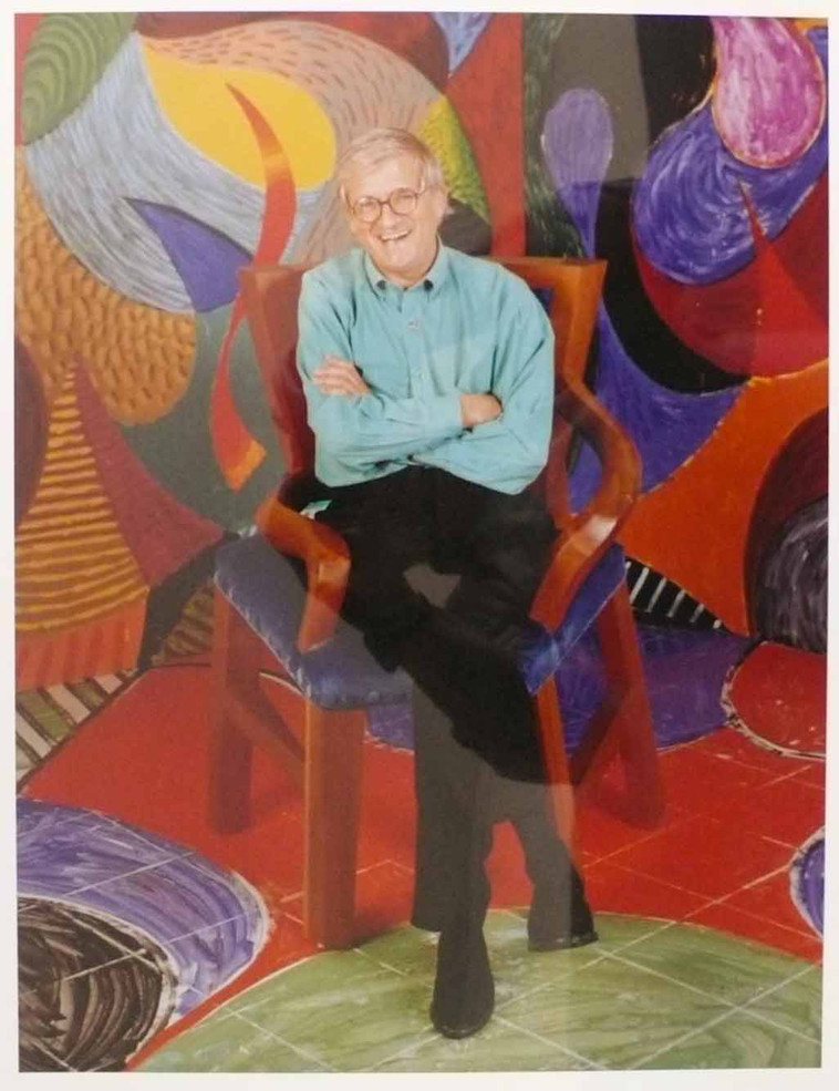 David Hockney Seated in a Painting, 1993