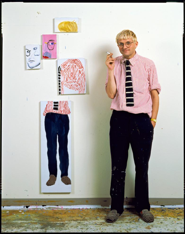 David Hockney In His Studio, Los Angeles 1984