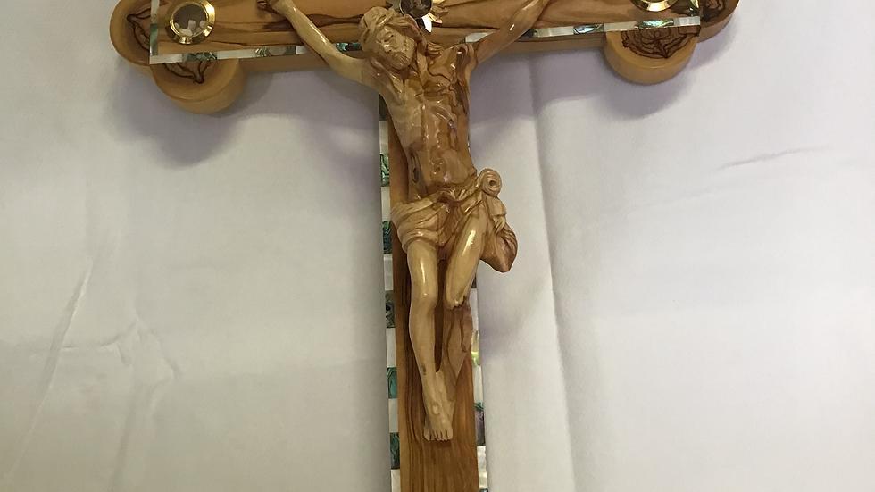55cm Olive Wood Cross