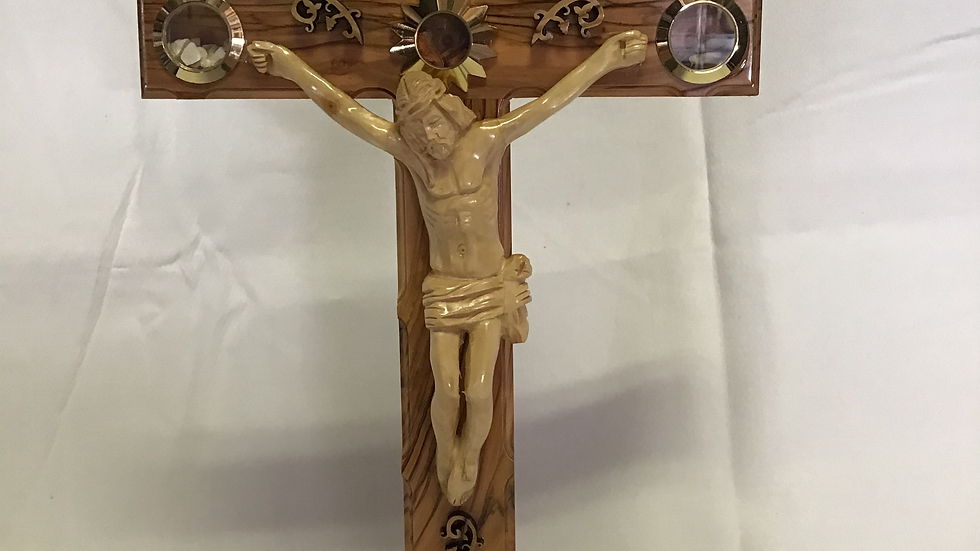 Standing 35cm Olive Wood Cross