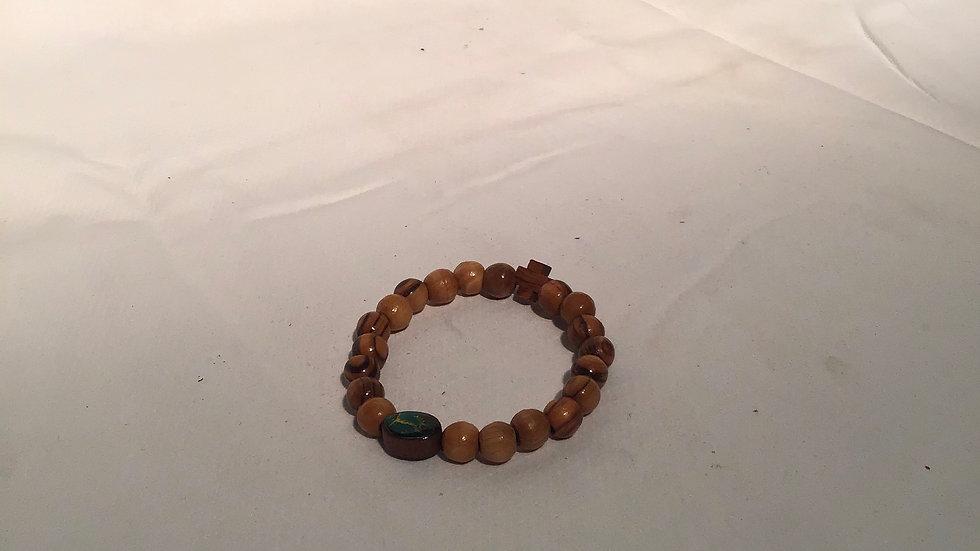 Single Olive Wood Bracelet
