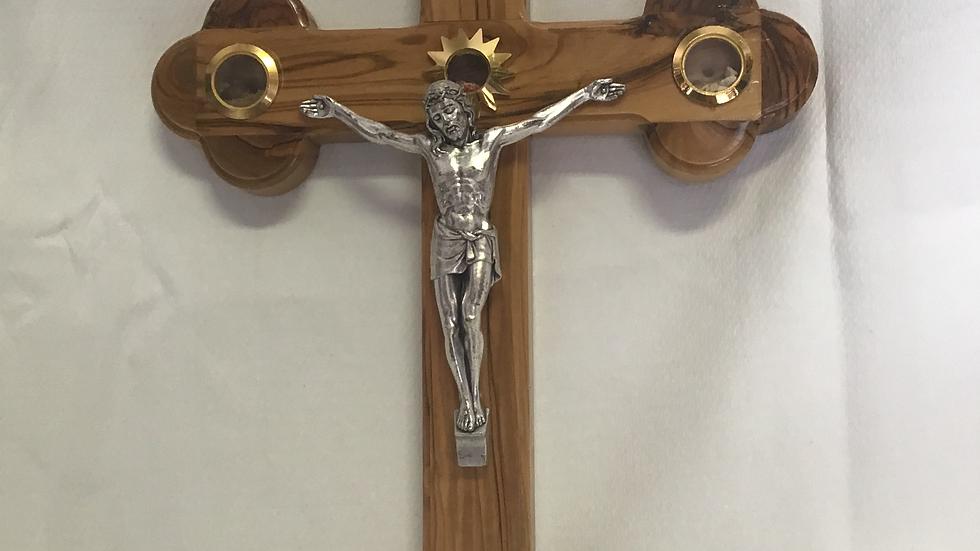 33cm Olive Wood Cross