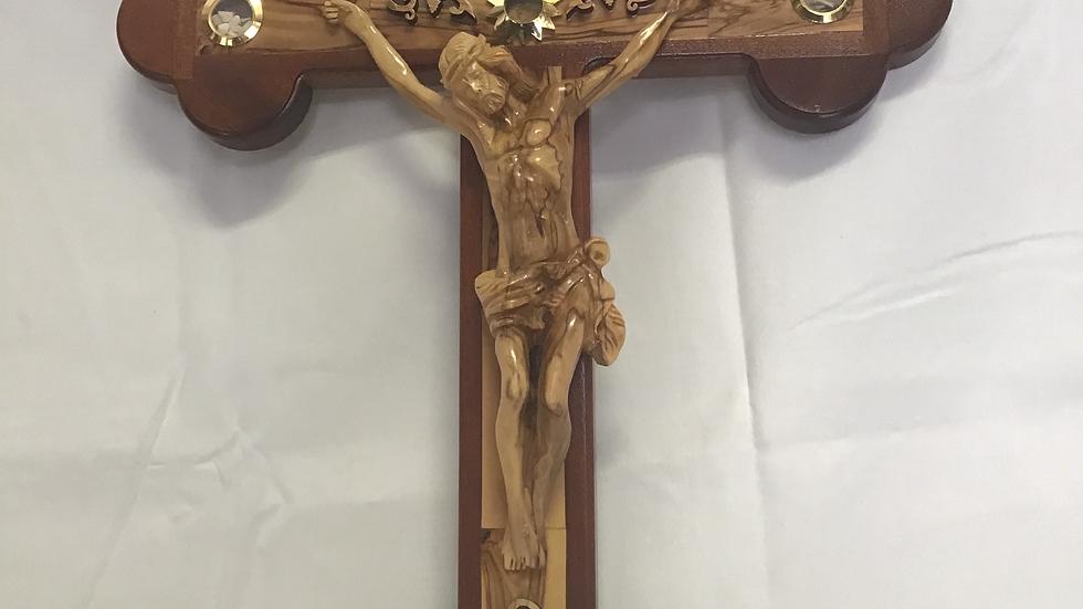 58cm Olive Wood Cross
