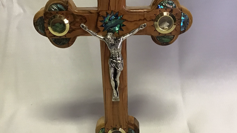 Standing 22cm Olive Wood Cross