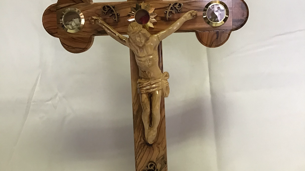 Standing 39cm Olive Wood Cross