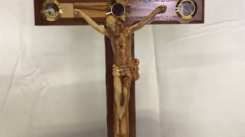 Standing 37.5cm Olive Wood Cross