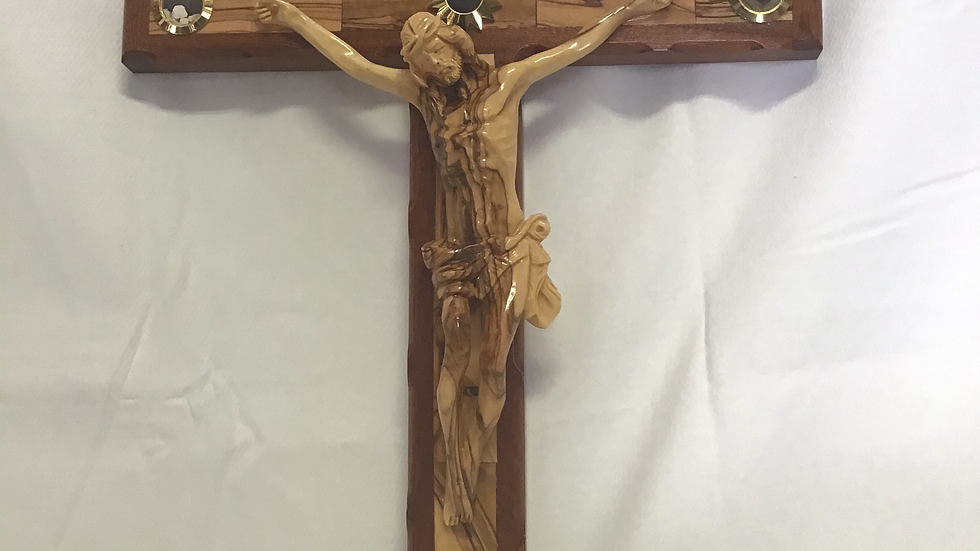 55cm Olive Wood Cross