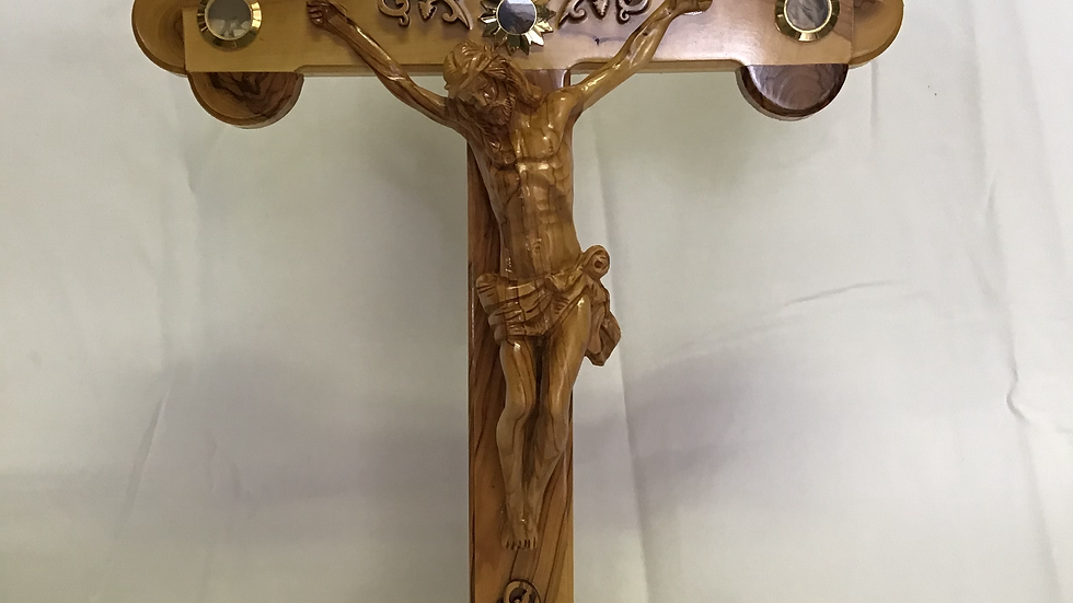 Standing 55cm Olive Wood Cross