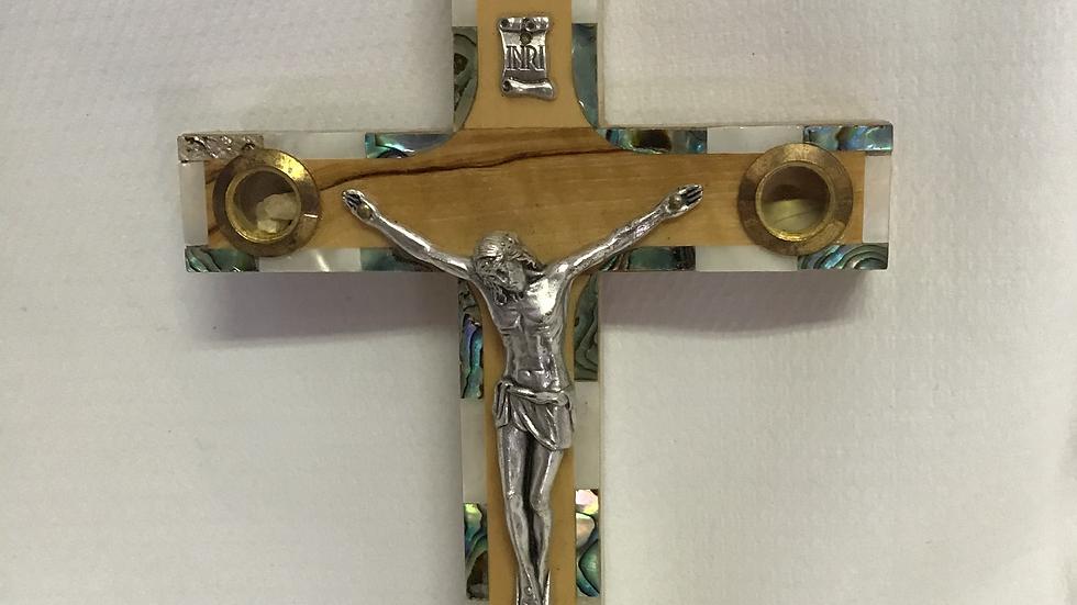 16.5cm Olive Wood Cross