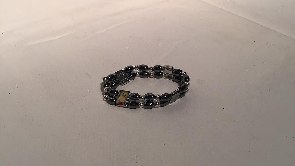 Double Hematite Stone Bracelet