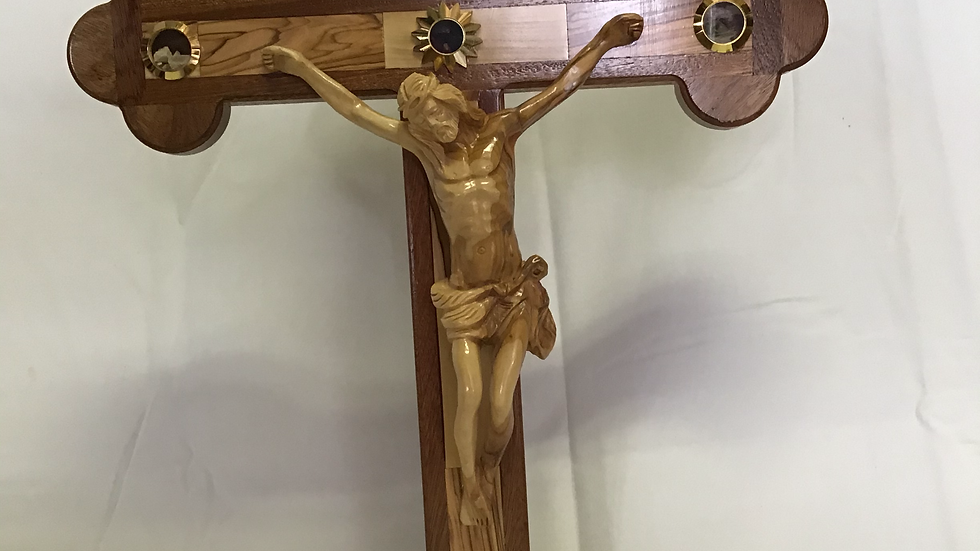 Standing 58cm Olive Wood Cross