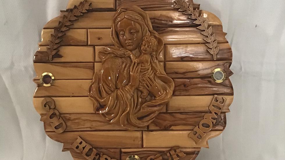Virgin Mary with Jesus-Round